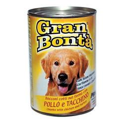 Gran Bonta konzerva s kuracím a morčacím mäsom 400g