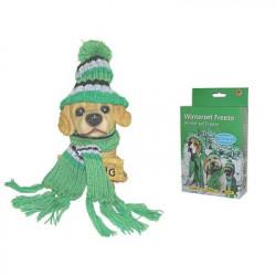 Zimný set pre psov - čiapka, šál M
