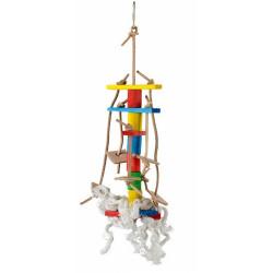 Lanová hračka pre papagáje 30x10cm
