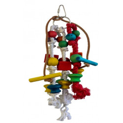 Lanová hračka pre papagáje 25x10cm