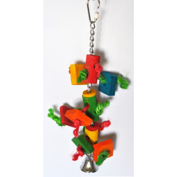 Lanová hračka pre papagáje 27x6cm