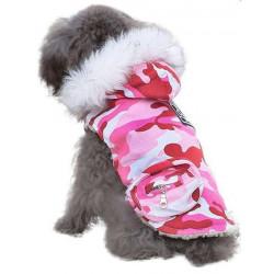 Maskáčová vesta ružová