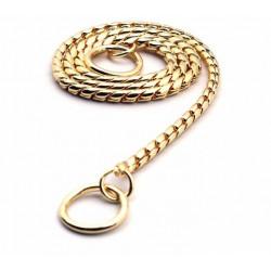 Jednoradový sťahovák kovový zlatý