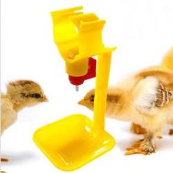 Napájač s miskou pre kurčatá, sliepky a prepelice