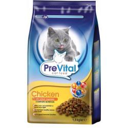 PreVital mačka kuracie so zeleninou, granule 1,8 kg