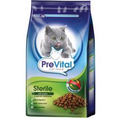 PreVital mačka sterilné, granule 1,6 kg
