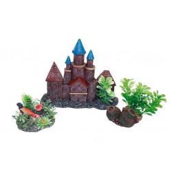 Dekorácia hrad s rastlinami - set