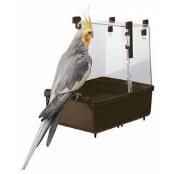 Kúpeľnička pre vtáky biela